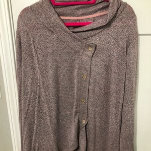 Maurice's sweater with asymmetrical button EUC